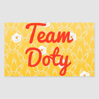 Team Doty Rectangular Sticker
