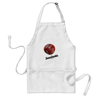 Team Double (Backgammon Doubling Cube) Adult Apron