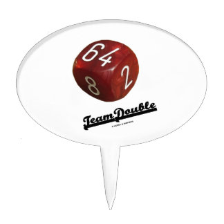 Team Double (Backgammon Doubling Cube) Cake Topper