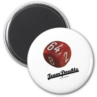 Team Double Backgammon Doubling Cube Magnets