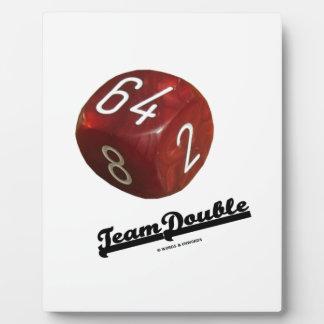 Team Double (Backgammon Doubling Cube) Photo Plaque