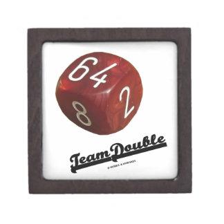 Team Double (Backgammon Doubling Cube) Premium Jewelry Box