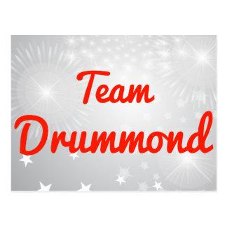 Team Drummond Postcards