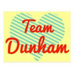 Team Dunham Post Cards