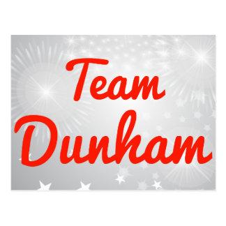 Team Dunham Postcard