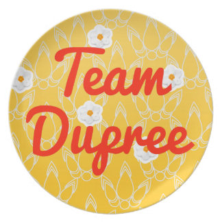 Team Dupree Party Plates