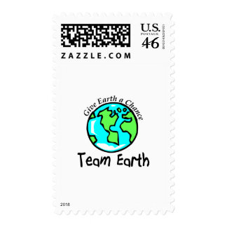 Team Earth Postage Stamps