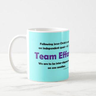 team effort coffee mug