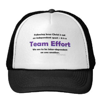 team effort trucker hat