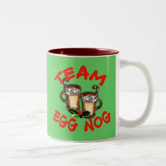 Team Eggnog Holiday Design Two-Tone Coffee Mug