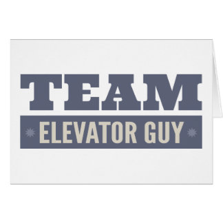 Team Elevator Guy Card