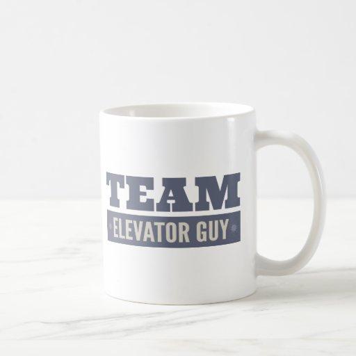 Team Elevator Guy Classic White Coffee Mug