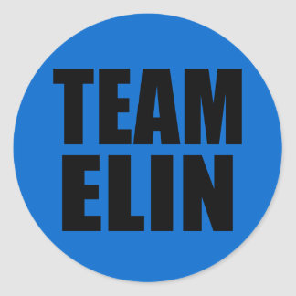 TEAM ELIN T-shirts, Sweats, Bags Classic Round Sticker