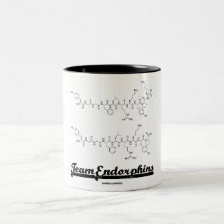 Team Endorphins (alpha- and beta-neoendorphins) Two-Tone Coffee Mug
