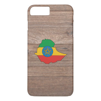 Team ethiopia Flag Map on Wood iPhone 7 Plus Case