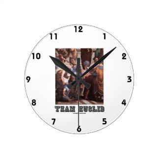 Team Euclid (Painting) Round Clock