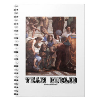 Team Euclid (Painting) Spiral Notebook