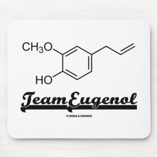 Team Eugenol (Chemical Structure) Mousepads