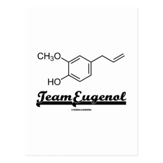 Team Eugenol (Chemical Structure) Post Cards