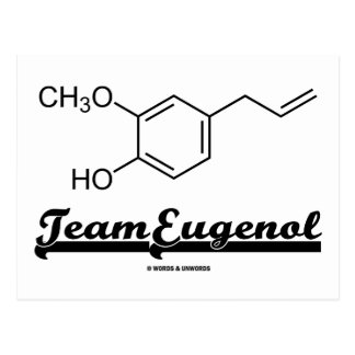 Team Eugenol (Chemical Structure) Postcard