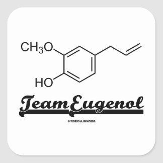 Team Eugenol (Chemical Structure) Square Stickers
