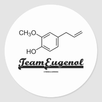 Team Eugenol (Chemical Structure) Sticker