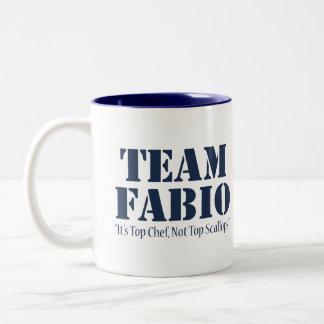 Team Fabio Two-Tone Coffee Mug