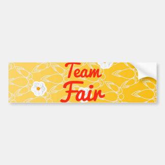 Team Fair Car Bumper Sticker