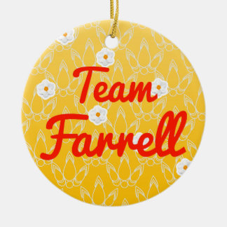 Team Farrell Double-Sided Ceramic Round Christmas Ornament