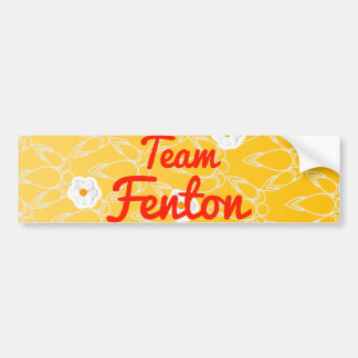 Team Fenton Car Bumper Sticker