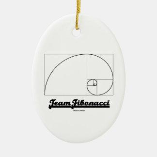 Team Fibonacci (Fibonacci Spiral) Ceramic Ornament