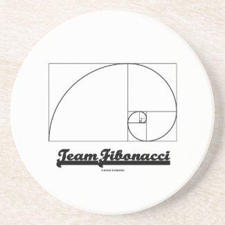Team Fibonacci (Fibonacci Spiral) Coaster