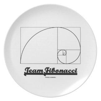 Team Fibonacci (Fibonacci Spiral) Dinner Plate