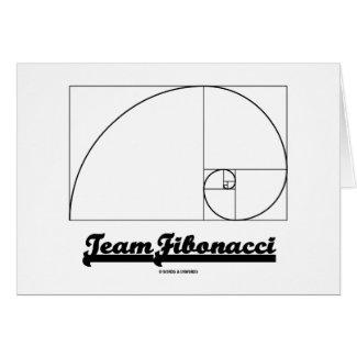 Team Fibonacci (Fibonacci Spiral) Greeting Cards
