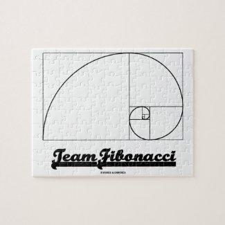 Team Fibonacci (Fibonacci Spiral) Jigsaw Puzzles