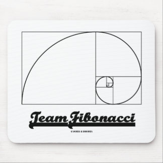 Team Fibonacci Fibonacci Spiral Mousepad