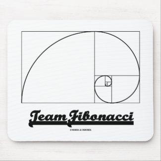 Team Fibonacci (Fibonacci Spiral) Mousepad