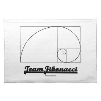 Team Fibonacci (Fibonacci Spiral) Place Mats