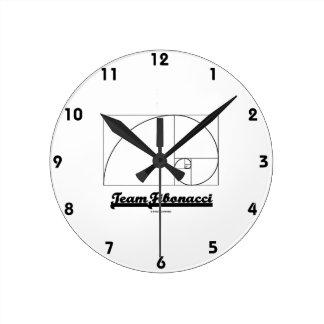 Team Fibonacci (Fibonacci Spiral) Round Clock