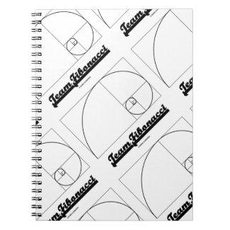 Team Fibonacci (Fibonacci Spiral) Spiral Note Book