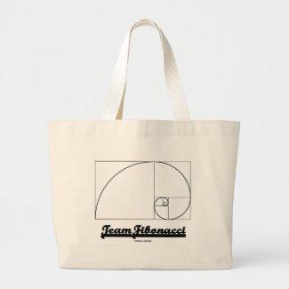 Team Fibonacci (Fibonacci Spiral) Tote Bag