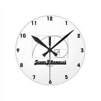Team Fibonacci (Fibonacci Spiral) Wallclock