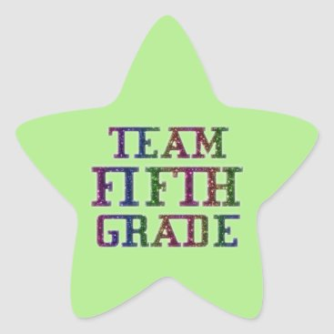 USA Themed Team Fifth Grade, Green Novelty School Stickers
