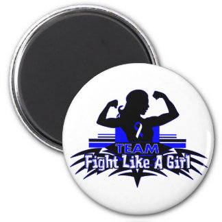 Team Fight Like a Girl - ALS 2 Inch Round Magnet