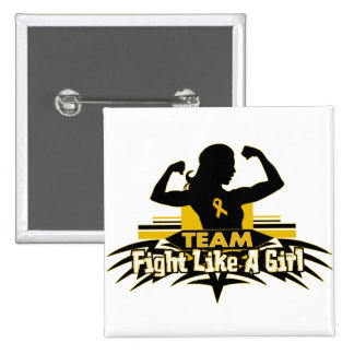 Team Fight Like a Girl - Appendix Cancer Button