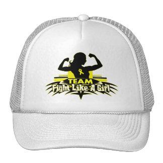 Team Fight Like a Girl - Bladder Cancer Trucker Hat