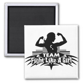 Team Fight Like a Girl - Carcinoid Cancer 2 Inch Square Magnet