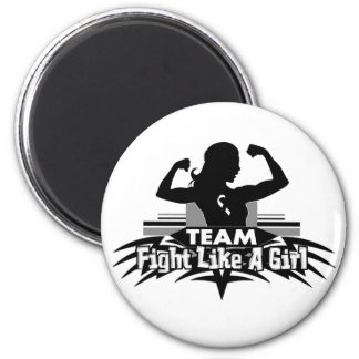 Team Fight Like a Girl - Carcinoid Cancer 2 Inch Round Magnet