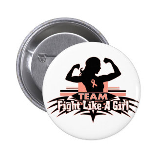 Team Fight Like a Girl - Endometrial Cancer Pinback Button