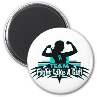 Team Fight Like a Girl - Gynecologic Cancer Magnets